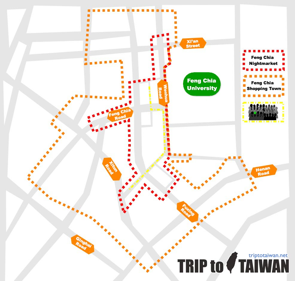 Feng Chia Night Market Map